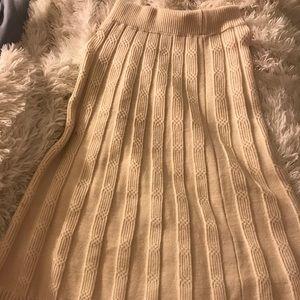 Knit sweater skirt
